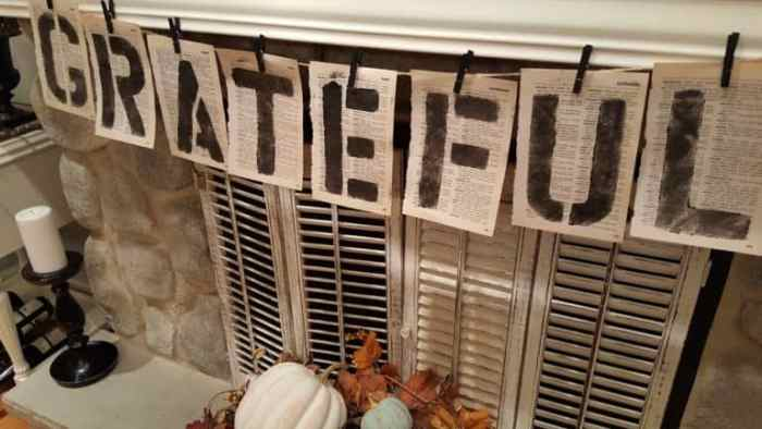Waste Not Wednesday Feature - Vintage Paper Garland