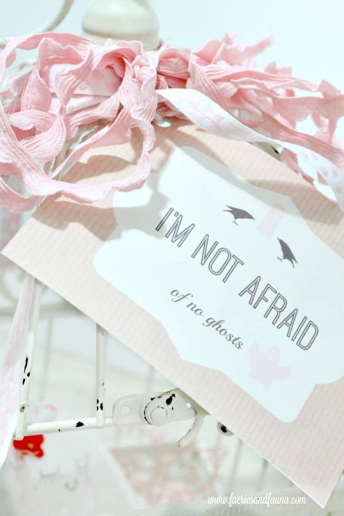 A free Halloween Printable that says I am Not Afraid of no Ghosts.