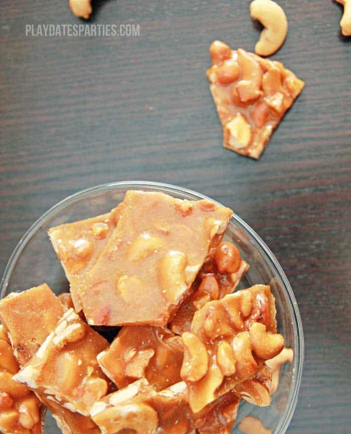 Waste not Wednesday Brown Sugar Cashew Brittle