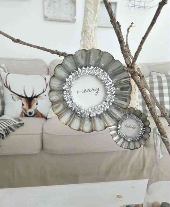Waste Not Wednesday Feature - Farmhouse Tin Christmas Ornaments