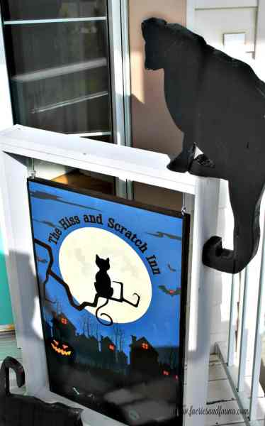 DIY Wood Black Cat Silhouette for Halloween