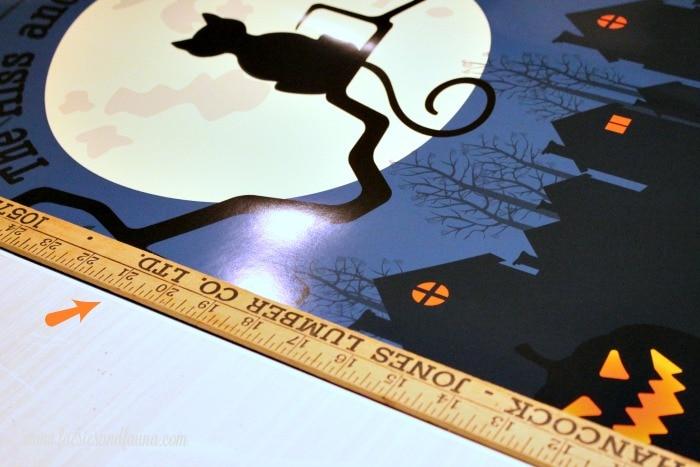 Halloween DIY Hanging Poster sign of a Black Cat