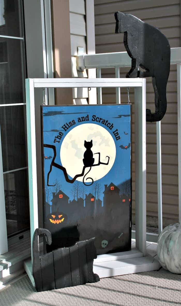 Scrap Wood Cats for a Halloween Sign