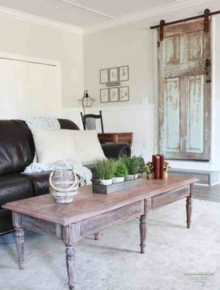 Waste Not Wednesday feature lime washed coffee table makeover