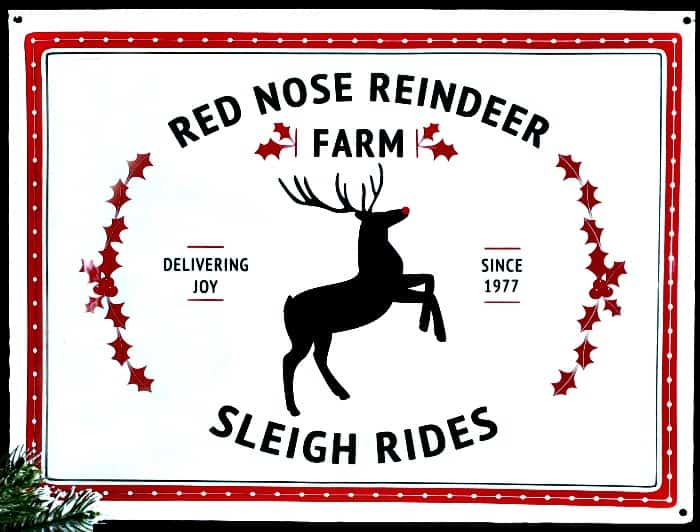 Before picture of Reindeer Sign on Easy Christmas DIY idea