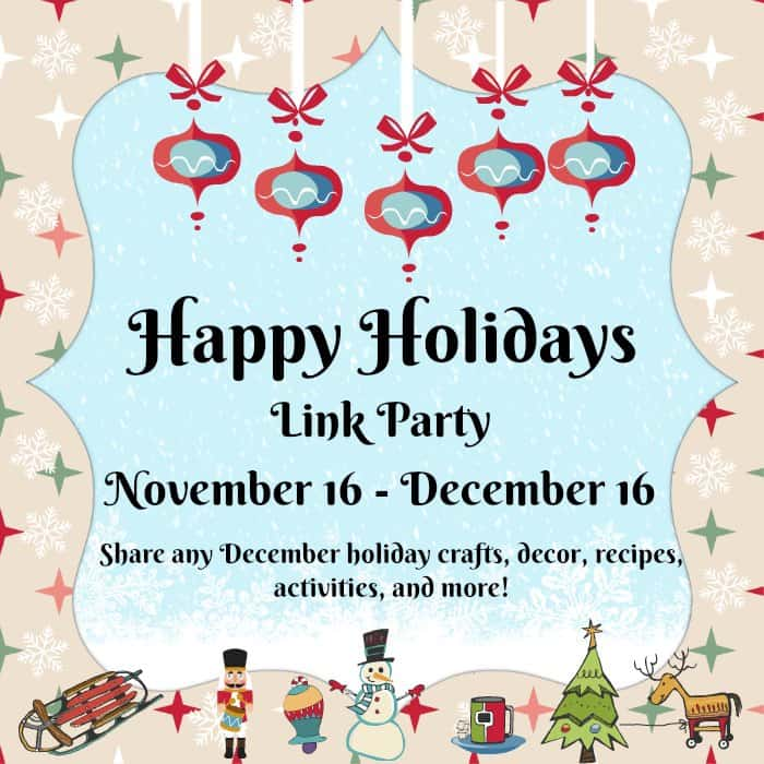 Happy Holidays Link Party Graphic
