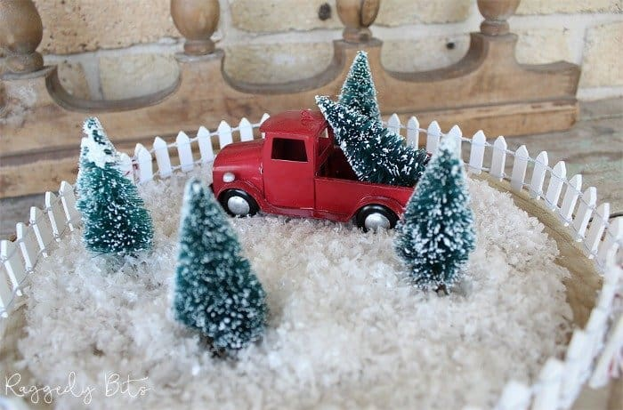 Waste Not Wednesday Red Truck Christmas Display