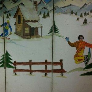 Achterwand Sneeuw