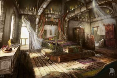 fantasy concept elven bedroom room tower mage rooms medieval artist interior digital canon magician anime places bedrooms google perfect illustrator