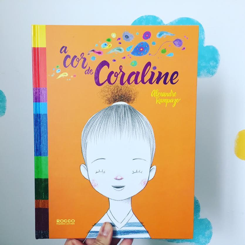A cor de Coraline - livro infantil