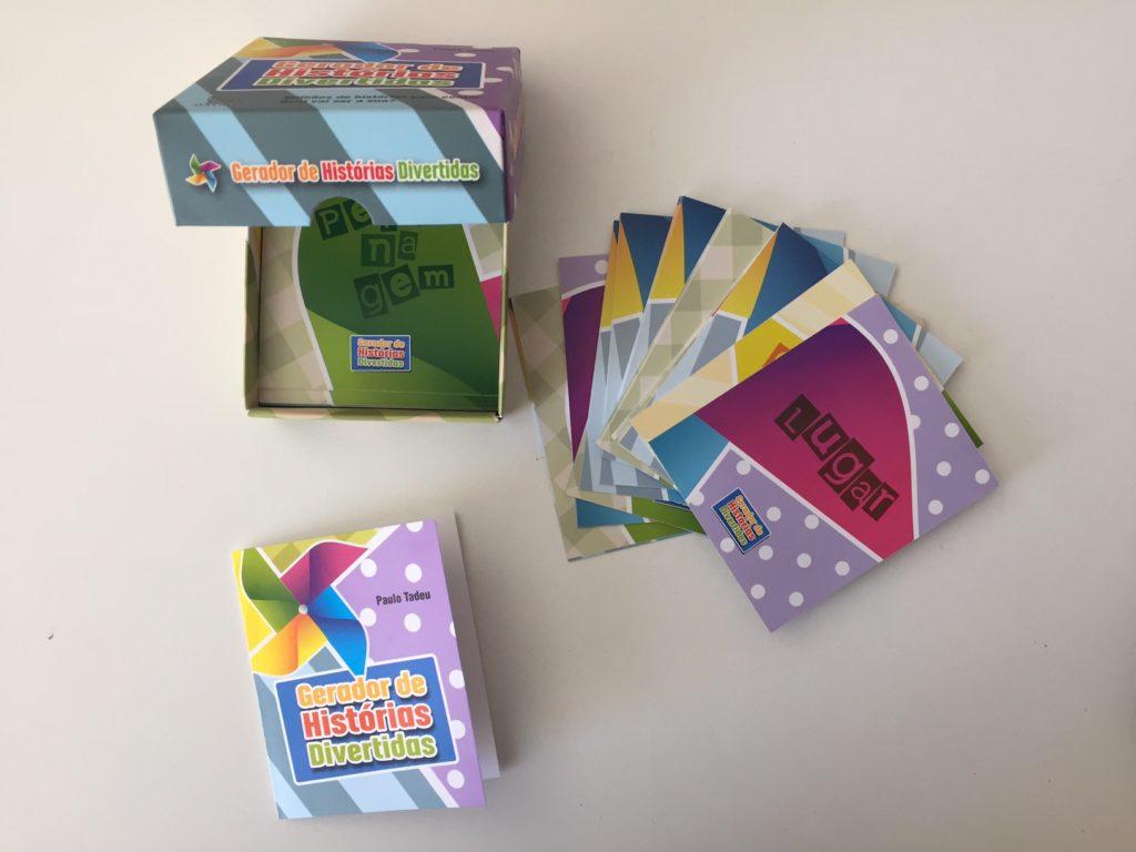"""Como """"o céu é o limite"""" dá pra brincar de outras formas para contar histórias com as cartas."""