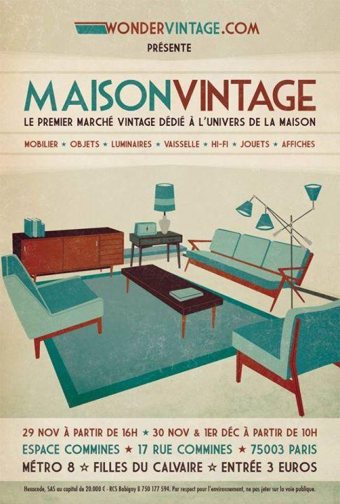 Affiche Maison Vintage