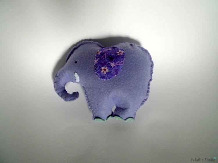 Elephant feutrine