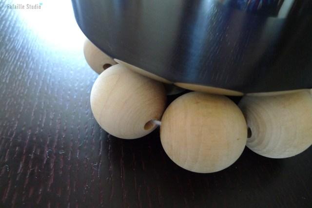 Dessous de plat perles bois