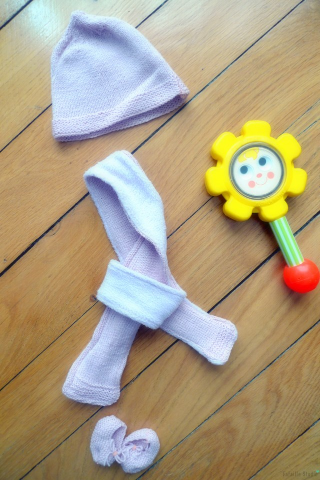 Echarpe tricotée doublée
