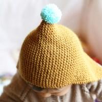 Tricot - Le béguin moutarde en baby alpaga !
