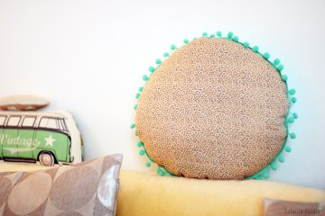 couture coussin rond