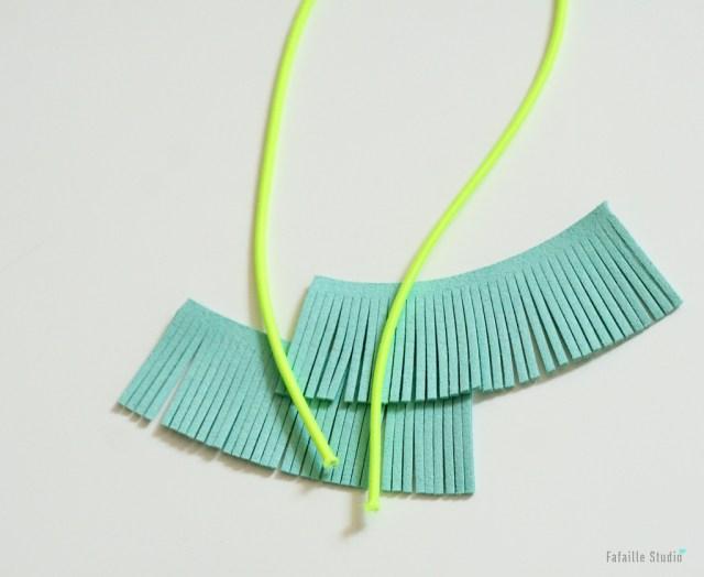 tassel frangé et cordon fluo