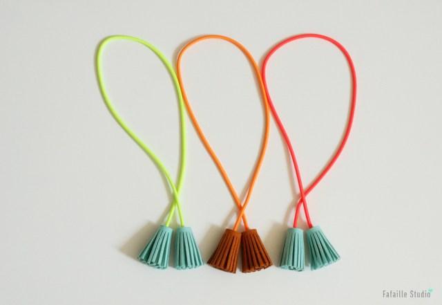 DIY tassels accessoires fluo frangés