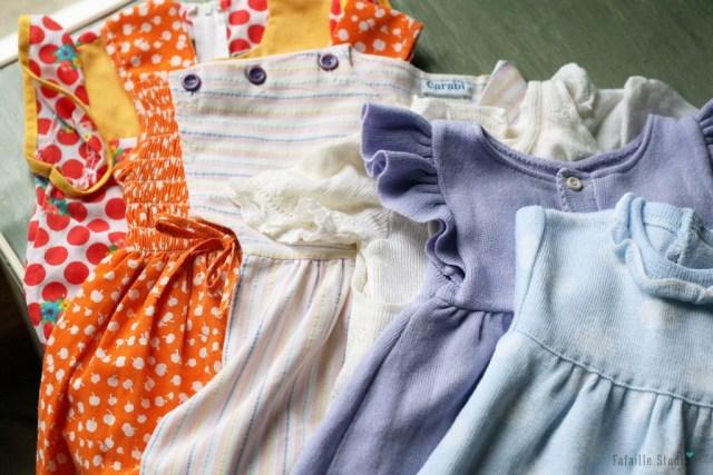 Robes bébé vintage