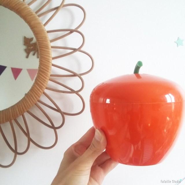 Pomme à glaçons orange