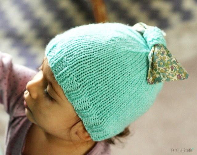Bonnet tricoter couleur mint