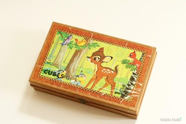 Jeu de cubes Bambi