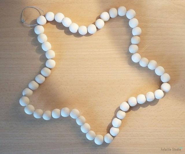 DIY étoile en perles
