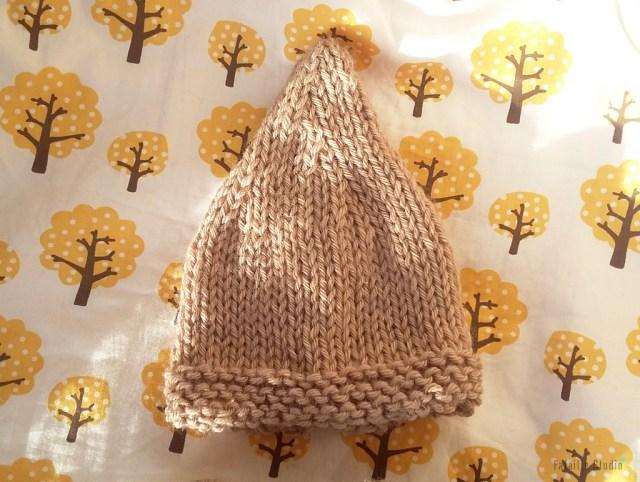 Tricoter bonnet naissance lutin