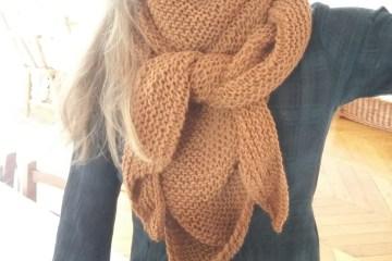 Tricoter un trendy châle