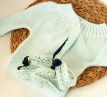 Gilet tricoté mint