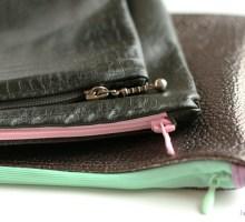 Coudre une pochette zippée avec de belles finitions