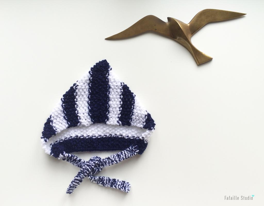 Tricot - Marin, le béguin (Tuto)