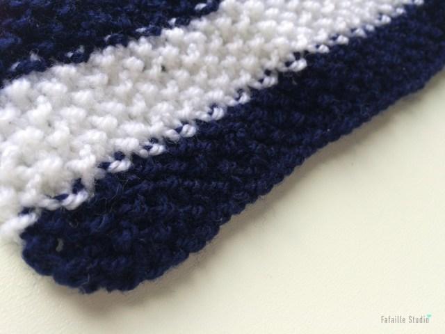 Tricoter un béguin au point de riz