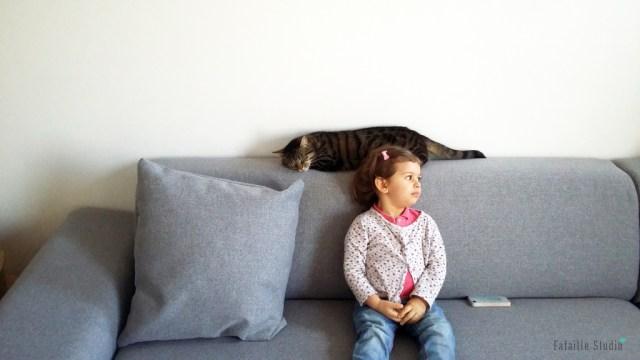 Canapé d'angle gris chiné