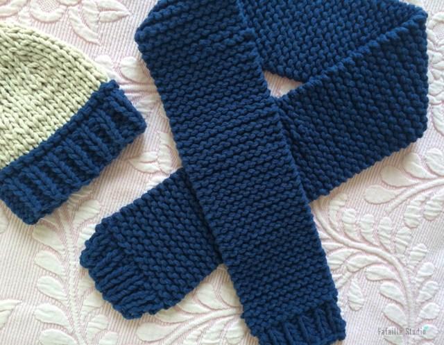 tuto tricot écharpe bébé à bords côtes