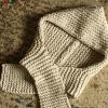 bonnet écharpe tricoté au point mousse