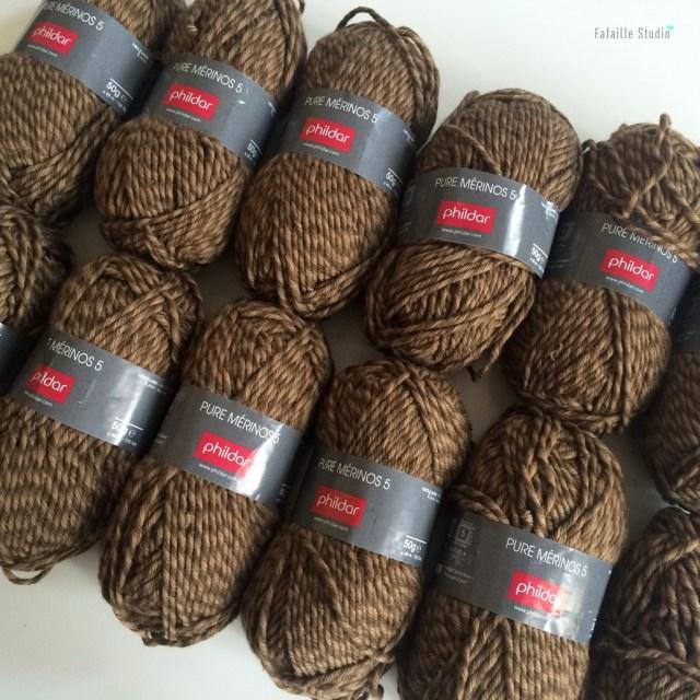 Pelotes laine mérinos vintage