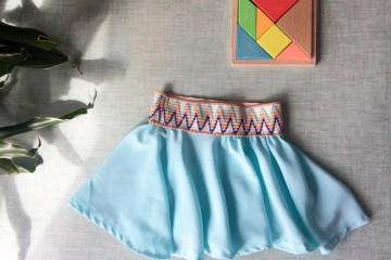 Coudre une jupe patineuse fluide en crèpe de soie