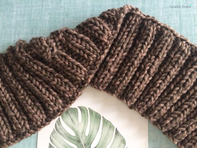 Tuto bandeau tricoté à côtes