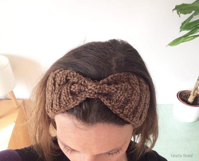 Tricoter headband facile rétro