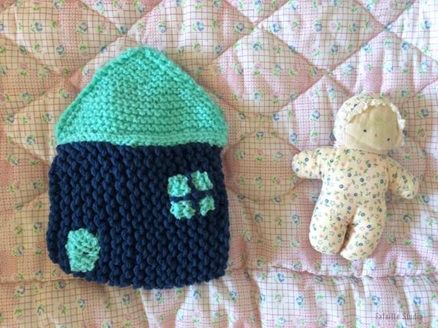 tricoter une maison range pyjama
