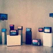 Ian Baxter&'s TV display at the AGO