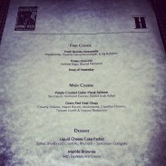 The Hardware Grill's DTDW menu