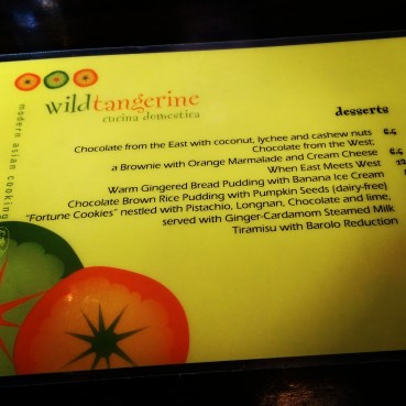 The dessert menu...everything sounded so good!