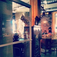 The entrance into the restaurant by Blush Lane Organic Market.