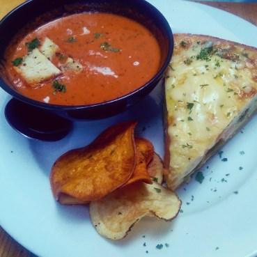 Quiche with Tomato Bisque