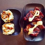 Beef short ribs and golden rolls at Watari.
