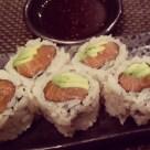 Salmon and avocado rolls at Sushi Roku.