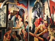 A portion of America Today by Thomas Hart Benton